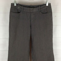 Banana Republic womens size 2 gray striped flat front lined wide bootcut pants