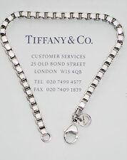 Tiffany & Co Sterling Silver Venetian Link Mens 7.5 Inch Bracelet