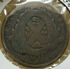 Rare 1837 Quebec Province Du Bas Canada 1 One Penny Deux Sous Bank Token