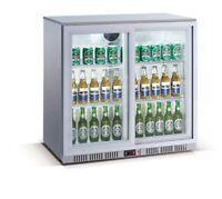 Flaschenkühlschrank 208 Liter  mit Schiebetüren - BackBar Cooler