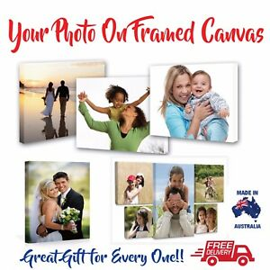 Personalised Your Photo Print on Canvas printing own picture  900x600mm framed