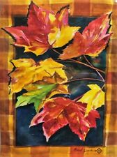 """Maple Leaves Garden Flag by Toland #1160 11"""" x 14.5"""" 017917007015"""