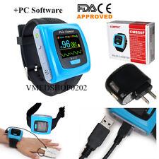 FDA CE Wrist Fingertip Pulse Oximeter SpO2 PR Sleep Study Monitor+SW USB, CMS50F