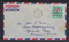 JAMAICA 1965 AIRMAIL COVER HALF WAY TREE TO USA W/ SWEEPSTAKE TICKET CONTENTS