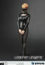 ZYTOYS 1/6 Female Black Leather Lingerie Cloth Suit Underwear High Heels ZY5003
