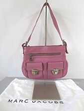 MARC JACOBS Made in Italy Pink Leather 'Sophia' Shoulder Bag