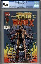 Marvel Comics Presents #72 CGC 9.6 NM+ Origin of Wolverine WHITE PAGES