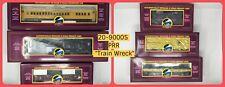 "MTH RAIL KING 20-90005 PRR ""TRAIN WRECK"" 6-Car Freight Set O Gauge"