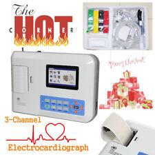 CE&FDA Digital 3-Channel 12 lead ECG/EKG Machine Electrocardiograph+USB+Software
