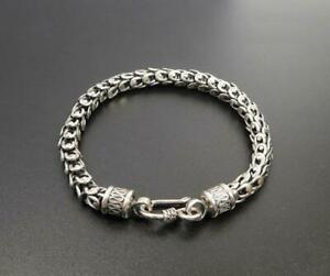 RQQDSZ 30Mm Huge Heavy Mens Solid Silver Bracelet Bangle Polish Mens Biker Chain Stainless Steel