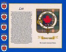 """CANADIAN Tartan & Cognome STORIA stampa 10 """"x 8"""" & libero REGALO NUOVO DESIGN"""