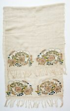 NICE! ANTIQUE OTTOMAN ARMENIAN GREEK YAGLIK SILK METALLIC EMBROIDERY TEXTILE
