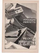 Pubblicità vintage TENSI PELLICOLE FOTO PHOTO advert werbung publicitè reklam