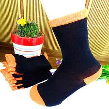Beautiful 1Pair Black & Orange Children Fashion Pure Cotton Socks 17*18CM BWZ89~
