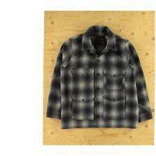 Filson Wool Mackinaw Cruiser Jacket Gray Check Plaid Size XL