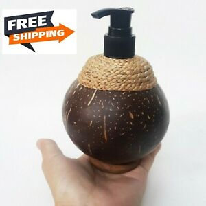 Soap Dispenser Pump Liquid Lotion Refill Coconut Shell Bathroom Shampoo Handwash