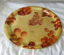 Vintage retro 1960s French Hanover fibreglass serving tray grapes oranges apples