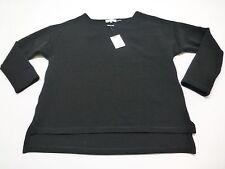 Calvin Klein Womens Size M Black Ribbed Polyester Dressy Shirt New