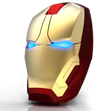 Avengers Iron Man Wireless Gaming Mouse Computer Mic Silent Ergonomic for PC