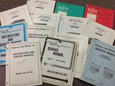 Various Vintage RELM, Regency Radio,Duplexer, Repeater Manuals HARD TO FIND