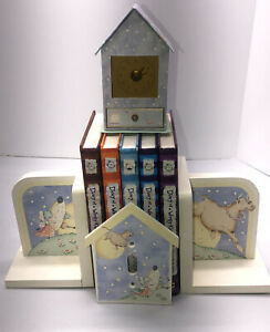 Laura Ashley English Hey Diddle Cow Jumped Over the Moon Nursery Decor