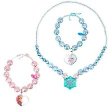 Disney Frozen Anna and Elsa Necklace and Bracelet Set - New