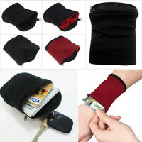 1pc Pocket Sports Gym Key Coin Zipper Travel Running Money Wrist Wallet Purse W