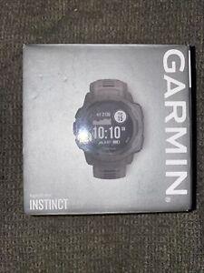 Garmin Instinct 45mm Rugged Outdoor Watch GPS Heart Rate Monitoring Graphite NEW
