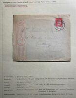 1943 Regensburg Germany Labour Censored Camp KZ Cover To Claunaut Belgium