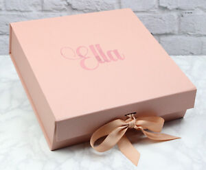 Rose gold gift box, Personalised gift box