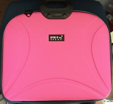 "EYE T RIGID EVA LAPTOP/NOTEBOOK/TABLET CASE BAG FOR 15.6"" + SHOULDER STRAP PINK"