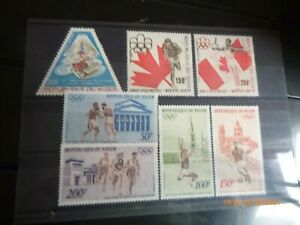 JEUX OLYMPIQUES. NIGER. 7 timbres. Neufs**