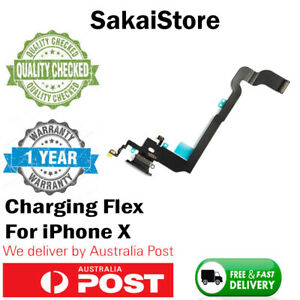 iPhone X / 10 Charging Port Flex Cable Charger Replacement Mic Lightning Charger
