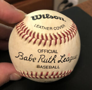 Vintage 1980s Wilson Official Babe Ruth League A1082 Baseball 9 Inch 5oz China