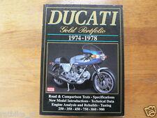 DUCATI GOLD PORTFOLIO 1974-1978 ISBN 1855203510 BROOKLAND BOOKS 900 SS,TWINS,DAR