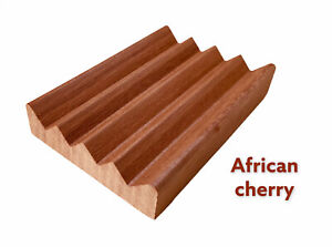 2 exotic African Cherry wood soap dishes - Proudly handmade in the USA
