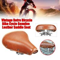 Vintage Retro Bicycle MTB Bike Cycle PU Saddle Seat Spring Comfort Seat Brown