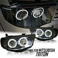 Black CCFL Projector Headlight Mitsubishi Triton L200 ML MN 05 06 07 2005-2014