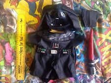 Build A Bear Factory Star Wars Darth Vader Outfit Costume With Red Lightsaber