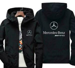Benz Autos Herren kälte- und winddichte Jacke, lässige Kapuzenjacke Sportjacke