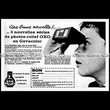 OXO / POCKET-VIEWER VISIONNEUSE STEREO GEVACOLOR 1962 Pub / Publicité / Ad #B674