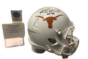Ricky Williams signed Texas Longhorns full size replica helmet Tristar coa NCAA
