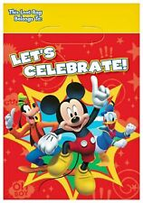 Mickey Mouse Party Supplies Loot Bags treat sacks 8ct.