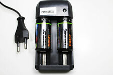 CHARGEUR RS08 + 2 BATTERIE PILE C R14 LR14 4000mAh RECHARGEABLE 1.2V Ni-MH ACCU