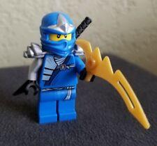 Lego Ninjago Jay ZX Minifigure with Black Katana and 1 Golden Blade