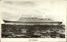 Holland American Line Steamship SS S.S. Rooterdam Real Photo Postcard