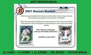 Nick Lodolo Cincinnati Reds 2021 Bowman JUMBO + HOBBY 2X CASE 20X BOX BREAK #26