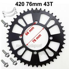 Rear Sprocket 420 76mm 43T For SDG Chinese Pit Dirt Bike Pitmotards SSR Coolster