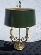 Lampe bouillotte bronze abat-jour en tôle peinte de style empire XXème