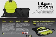 "BE.EZ LAGarde Robe 13"" laptop/ 13"" macbook bag/ Sleeve (Color: Black/ Wasabi)"